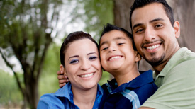 happy family with individual insurance in tucson